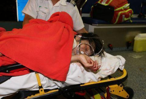 记者受伤,香港将军澳发生持刀伤人案,嫌疑人香港本地居民