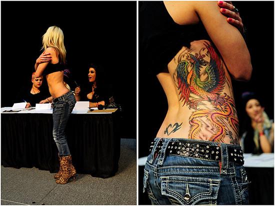 实拍温哥华纹身艺术展 劲爆火辣的刺青花背