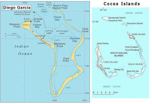 迪戈加西亚岛地图