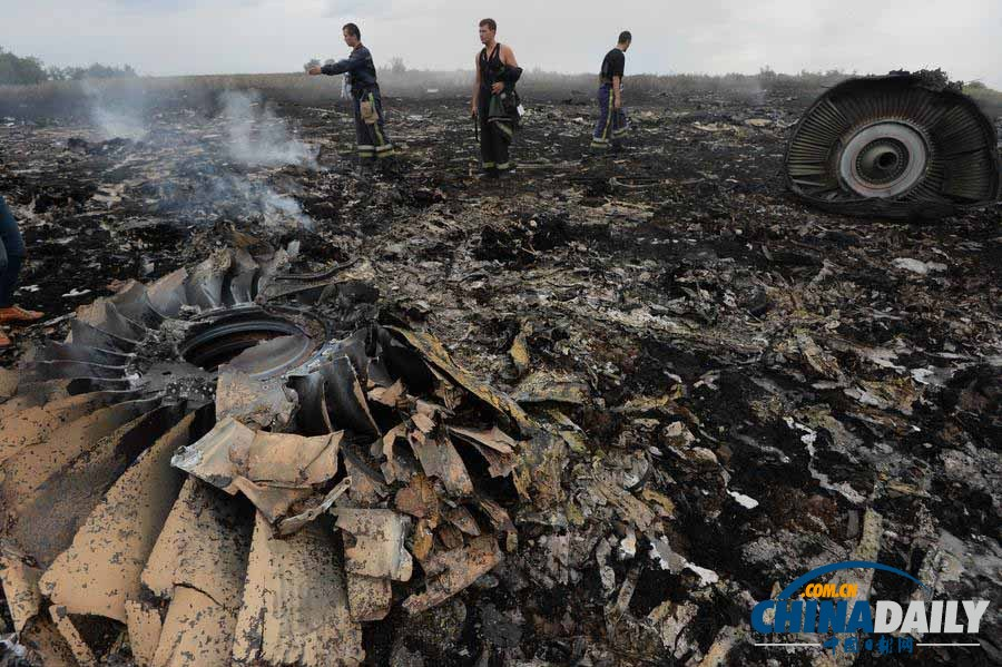 直击马航MH17客机坠毁事件面面观__上海热线