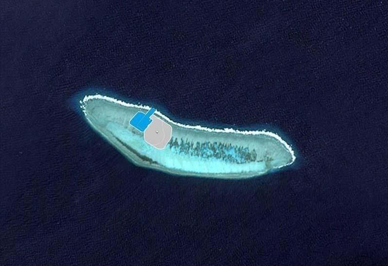 中国南海华阳礁填海造岛作业现场图曝光