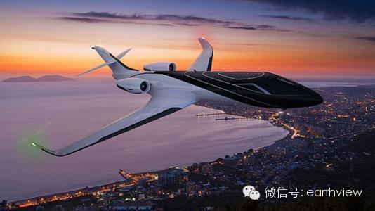 世界上第一架全透明飞机