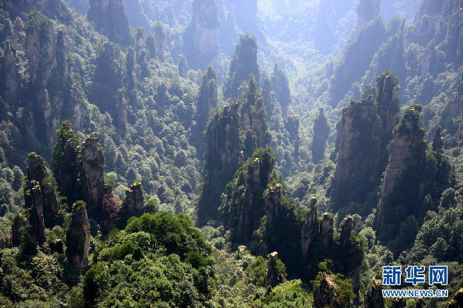 (美丽中国)(1)航拍世界自然遗产——武陵源风景名胜