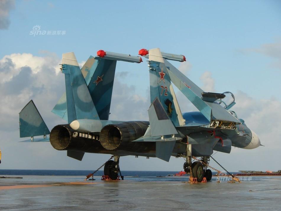 没歼15有前途!俄苏33战机远海搞训练 准备首战