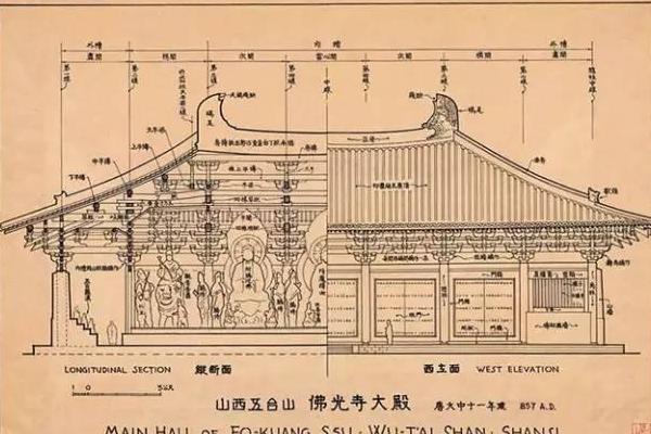 梁思成精美建筑手绘图