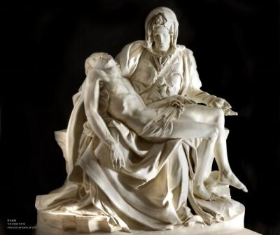 ⑧米开朗基罗创作的雕塑《罗马圣殇》
