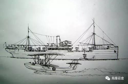 """""""镇海""""舰收放水上飞机图"""