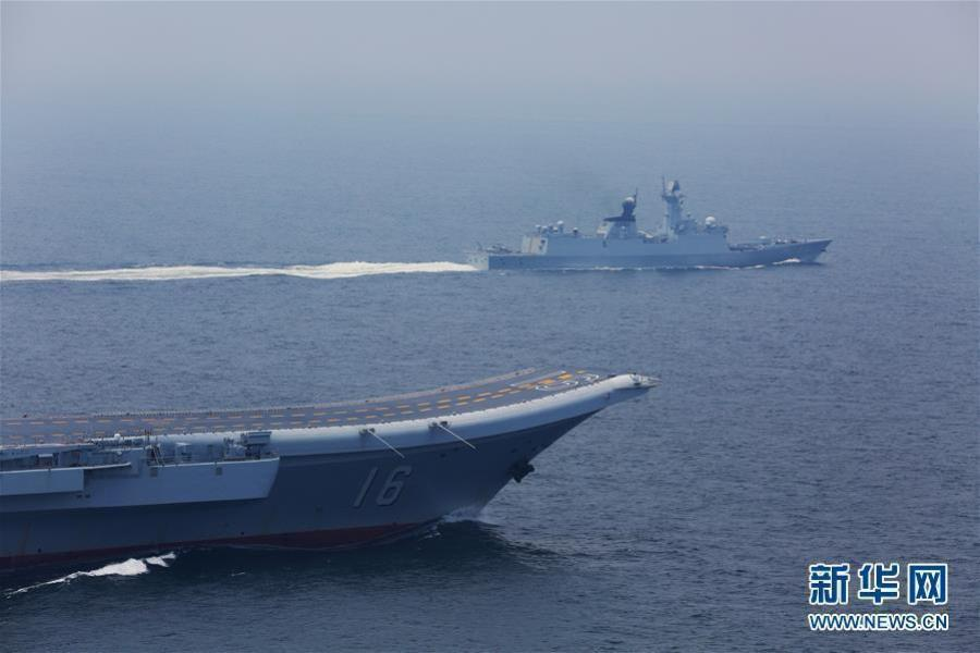 中国海军航母编队继续开展编队协同训练