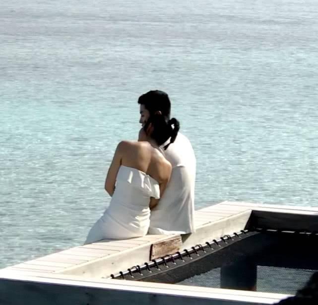 陈晓陈妍希拍婚纱照 取景