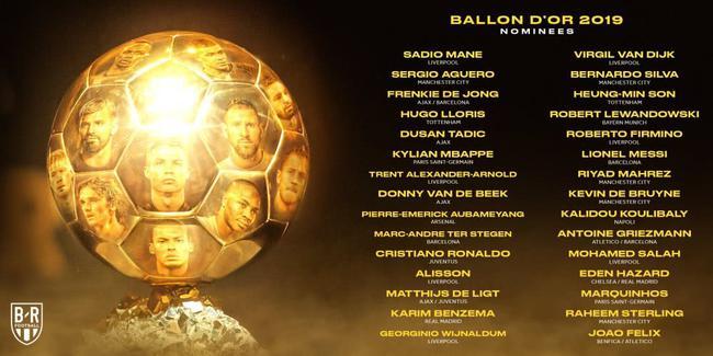 金球奖候选人名单公布,利物浦7人入