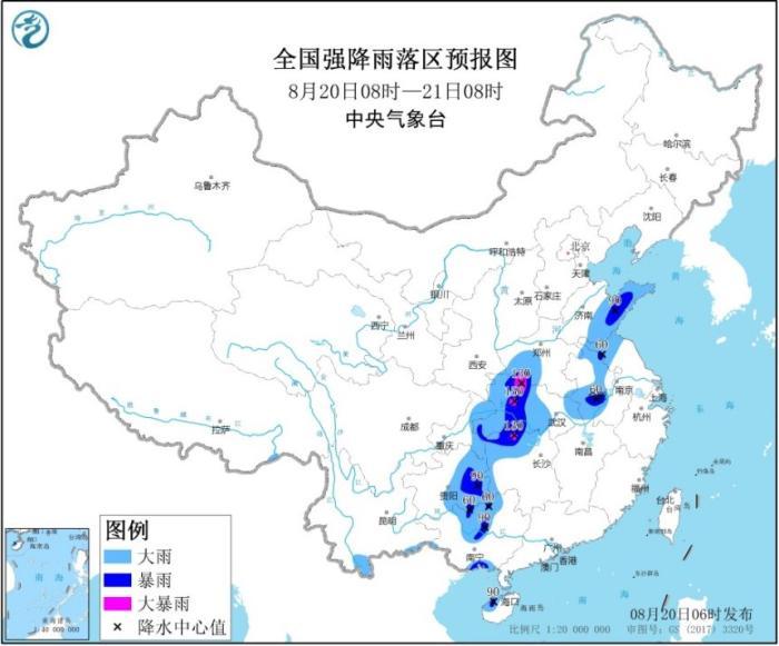 """【防御指南】11省市区暴雨黄色预警 台风""""海高斯""""致广东多地掀狂风暴雨"""