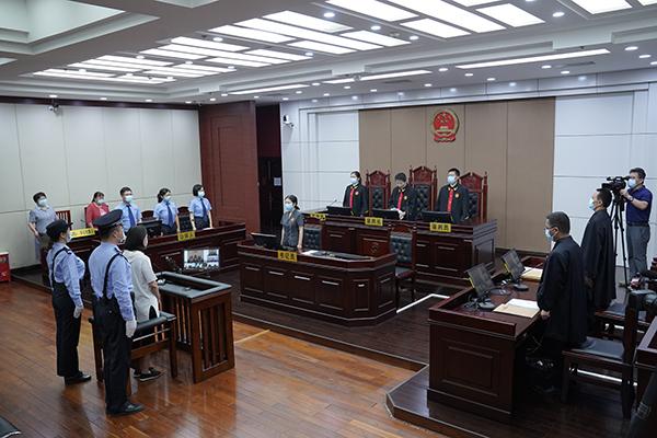 9月9日,劳荣枝案庭审现场。王小文 洪放 刘彤彤 摄
