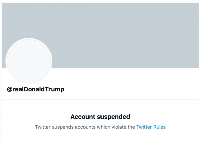 推特宣布永久移除特朗普账号 发布声明:担心煽